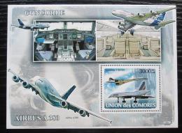 Poštovní známka Komory 2008 Letadla Airbus a Concorde Mi# Block 447 Kat 15€