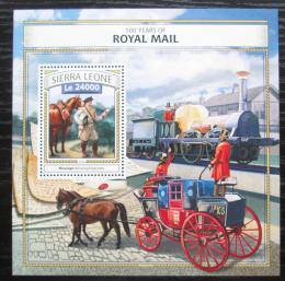 Poštovní známka Sierra Leone 2016 Britská královská pošta Mi# Block 1076 Kat 11€