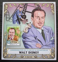 Poštovní známka Niger 2016 Walt Disney Mi# Block 517 Kat 14€