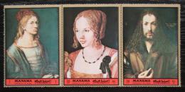 Poštovní známky Manáma 1972 Umìní, Albrecht Dürer Mi# 974-76