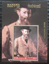 Poštovní známka Manáma 1972 Umìní, Manet Mi# Block 232 A