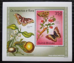 Poštovní známka Guinea-Bissau 2010 Hmyz a flóra DELUXE Mi# 5081 Block