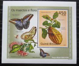 Poštovní známka Guinea-Bissau 2010 Hmyz a flóra DELUXE Mi# 5082 Block