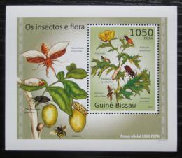 Poštovní známka Guinea-Bissau 2010 Hmyz a flóra DELUXE Mi# 5086 Block