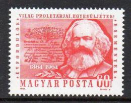 Poštovní známka Maïarsko 1964 Karel Marx Mi# 2068