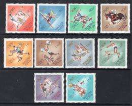 Poštovní známky Maïarsko 1964 LOH Tokio Mi# 2031-40