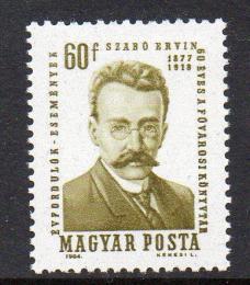 Poštovní známka Maïarsko 1964 Ervin Szabó Mi# 2067