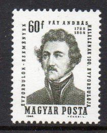 Poštovní známka Maïarsko 1964 András Fáy, spisovatel Mi# 2070