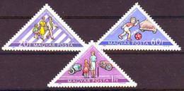 Poštovní známky Maïarsko 1964 Bezpeènost silnièního provozu Mi# 2064-66