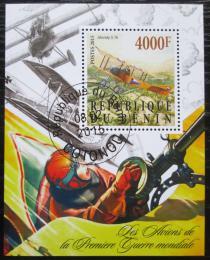 Poštovní známka Benin 2015 Váleèná letadla Mi# N/N