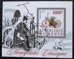 Poštovní známka Benin 2015 Historické motocykly Mi# N/N