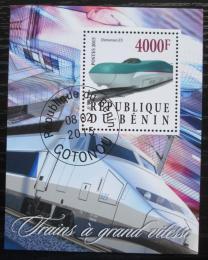 Poštovní známka Benin 2015 Moderní lokomotivy Mi# N/N