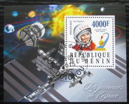 Poštovní známka Benin 2015 Jurij Gagarin, prùzkum vesmíru Mi# N/N