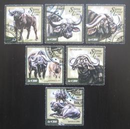 Poštovní známky Sierra Leone 2015 Buvol africký Mi# 6042-47 Kat 11.50€