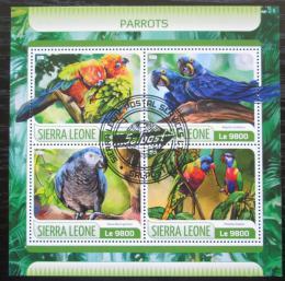 Poštovní známky Sierra Leone 2017 Papoušci Mi# 8590-93 Kat 11€