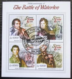 Poštovní známky Sierra Leone 2015 Bitva u Waterloo, Napoleon Mi# 6113-16 Kat 11€