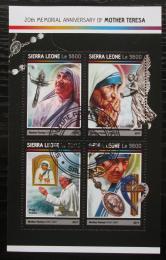 Poštovní známky Sierra Leone 2017 Matka Tereza Mi# 8215-18 Kat 11€