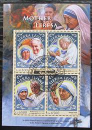 Poštovní známky Sierra Leone 2016 Matka Tereza Mi# 7693-96 Kat 12€
