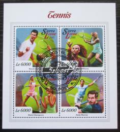 Poštovní známky Sierra Leone 2015 Svìtoví tenisti Mi# 6718-21 Kat 11€