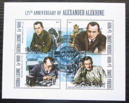Poštovní známky Sierra Leone 2017 Alexandr Aljechin, šachy Mi# 9070-73 Kat 11€