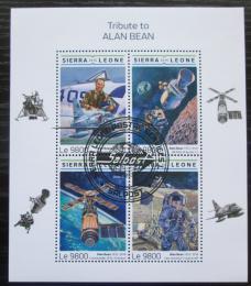 Poštovní známky Sierra Leone 2018 Alan Bean, kosmonaut Mi# 10026-29 Kat 11€