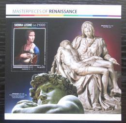 Poštovní známka Sierra Leone 20197 Umìní, Leonardo da Vinci Mi# Block 1136 Kat 7€