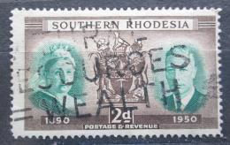 Poštovní známka Jižní Rhodésie, Zimbabwe 1950 Královna Alžbìta a král Jiøí Mi# 72