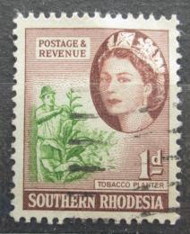 Poštovní známka Jižní Rhodésie, Zimbabwe 1953 Tabák virginský Mi# 81