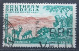 Poštovní známka Jižní Rhodésie, Zimbabwe 1953 Africká fauna Mi# 74