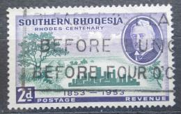Poštovní známka Jižní Rhodésie, Zimbabwe 1953 Cecil Rhodes Mi# 75