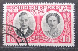 Poštovní známka Jižní Rhodésie, Zimbabwe 1947 Královská návštìva Mi# 65