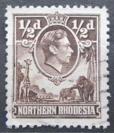 Poštovní známka Severní Rhodésie, Zambie 1951 Král Jiøí VI. a fauna Mi# 26 A