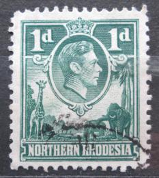 Poštovní známka Severní Rhodésie, Zambie 1951 Král Jiøí VI. a fauna Mi# 28