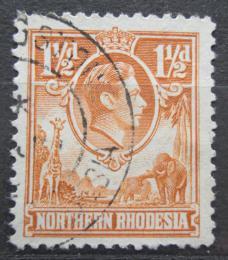 Poštovní známka Severní Rhodésie, Zambie 1941 Král Jiøí VI. a fauna Mi# 30