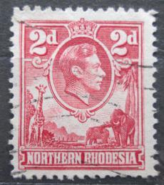 Poštovní známka Severní Rhodésie, Zambie 1941 Král Jiøí VI. a fauna Mi# 32