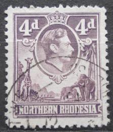 Poštovní známka Severní Rhodésie, Zambie 1938 Král Jiøí VI. a fauna Mi# 36