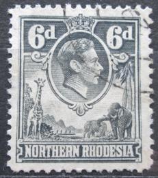 Poštovní známka Severní Rhodésie, Zambie 1938 Král Jiøí VI. a fauna Mi# 38