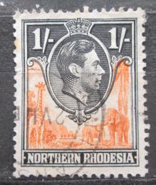 Poštovní známka Severní Rhodésie, Zambie 1938 Král Jiøí VI. a fauna Mi# 40