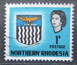 Poštovní známka Severní Rhodésie, Zambie 1963 Královna Alžbìta II. a znak Mi# 76