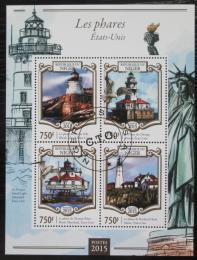 Poštovní známky Niger 2015 Americké majáky Mi# 3305-08 Kat 12€