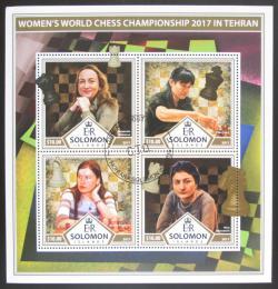 Poštovní známky Šalamounovy ostrovy 2017 Svìtové šachistky Mi# 4572-75 Kat 12€