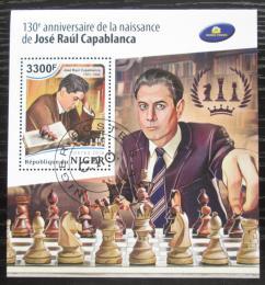 Poštovní známka Niger 2018 José Raúl Capablanca, šachy Mi# N/N Kat 13€