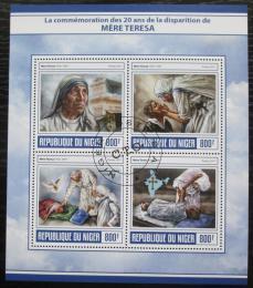 Poštovní známky Niger 2017 Matka Tereza Mi# 5092-95 Kat 13€