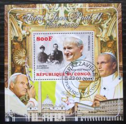 Poštovní známka Kongo 2015 Papež Jan Pavel II. DELUXE Mi# N/N