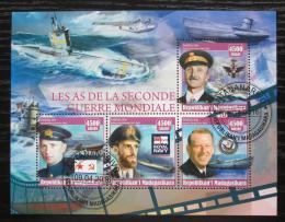 Poštovní známky Madagaskar 2016 Velitelé ponorek Mi# N/N