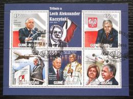 Poštovní známky Guinea-Bissau 2010 Prezident Lech Kaczyòski Mi# 4708-12 Kat 13€