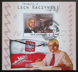 Poštovní známka Mosambik 2010 Prezident Lech Kaczyòski Mi# Block 401 Kat 10€