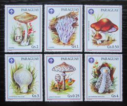 Poštovní známky Paraguay 1986 Houby Mi# 3950-55 Kat 6.50€