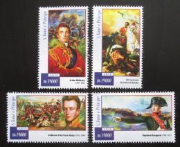 Poštovní známky Svatý Tomáš 2015 Bitva u Waterloo, Napoleon Mi# 5995-98 Kat 7.50€