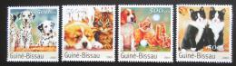 Poštovní známky Guinea-Bissau 2003 Psi a koèky Mi# 2148-51 Kat 8€